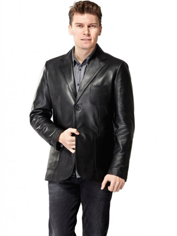 Morazzi Siyah Deri Ceket