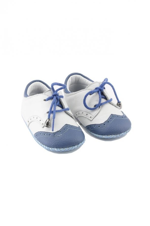 Spor Deri Bebek Ayakkabısı Mavi