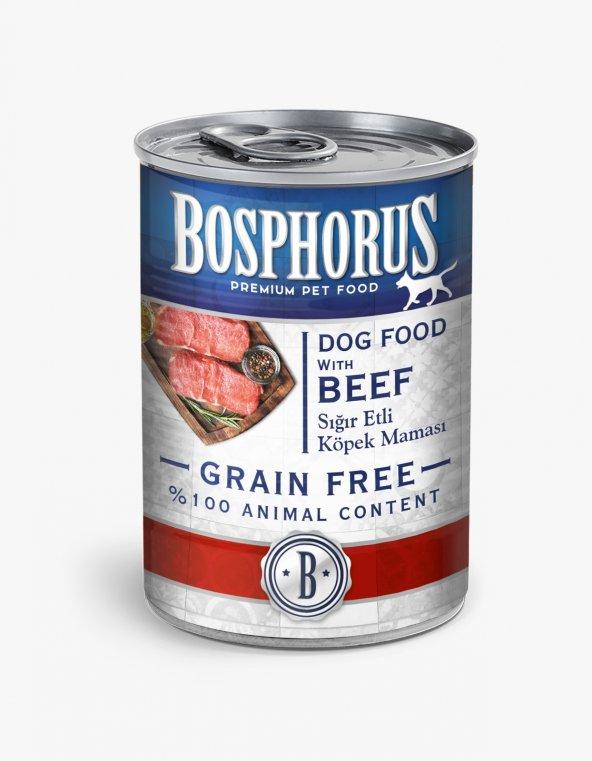 Bosphorus Tahılsız Konserve Sığır Etli Köpek Maması 6'lı (6 x 415 gr)