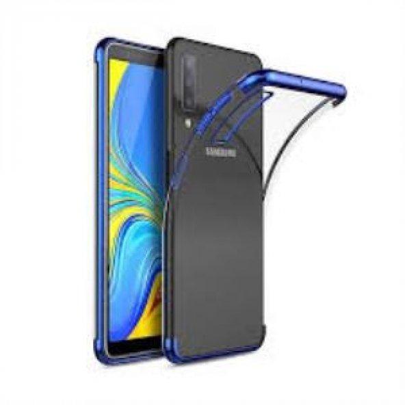 Samsung Galaxy A10 Mavi Köşeli Lazer Kılıf