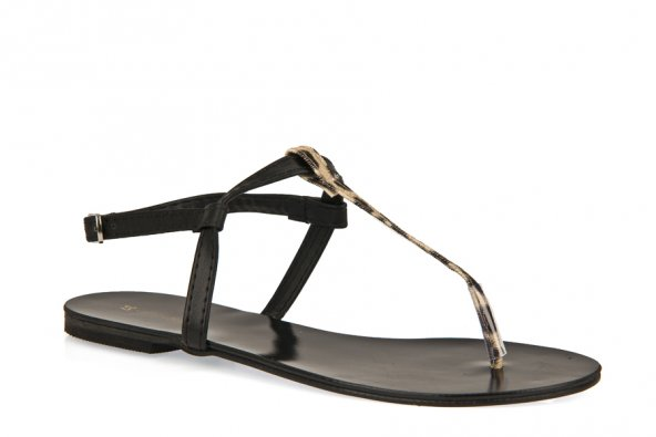 Uniquer, Kadın Sandalet 91356U 1213 Siyah-Leopar