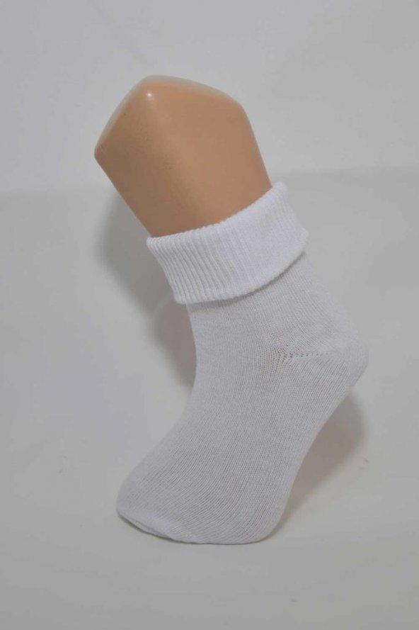 4'lü Beyaz Renk Likralı Soket Çorap