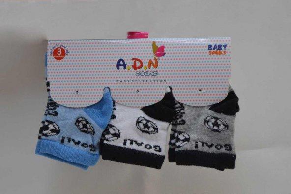 3lü Erkek Çocuk Soket Çorap