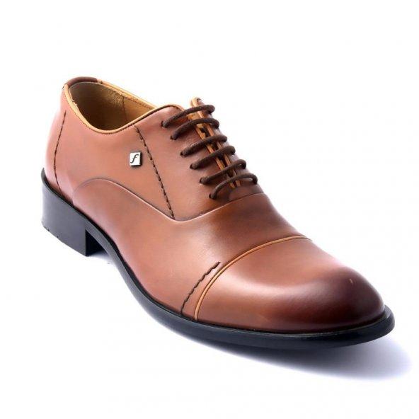 Fosco 6049 Deri Klasik Erkek Ayakkabı Taba