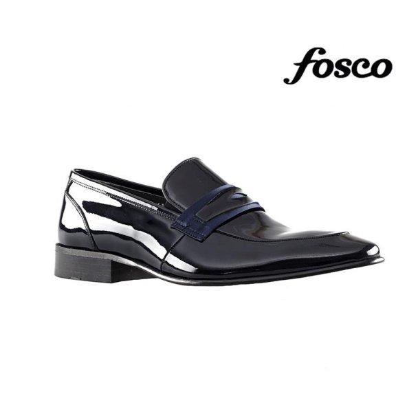 Fosco 7513 Deri Klasik Erkek Ayakkabı Lacivert Rugan