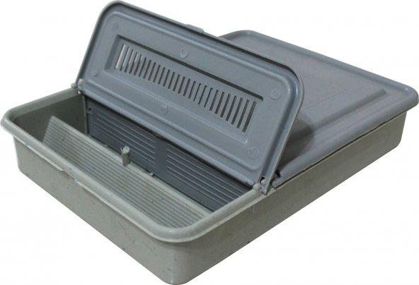 Arı Kovan Gri Plastik Kutu Tipi Yemlik Şurupluk 1.5 Lt