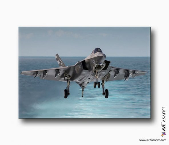 Türk Hava Kuvvetleri Savaş Uçağı Kanvas Tablo