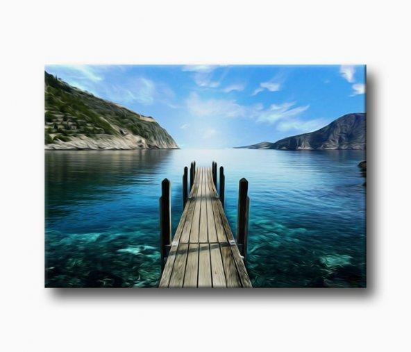 Deniz İskele Kanvas Tablo