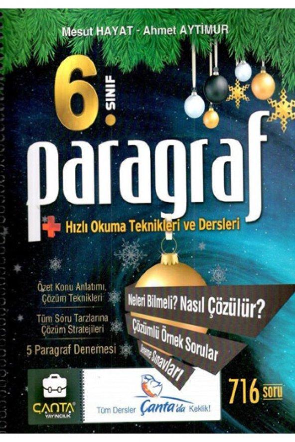 Çanta Yayınları 6. Sınıf Paragraf Hızlı Okuma Teknikleri ve Dersl