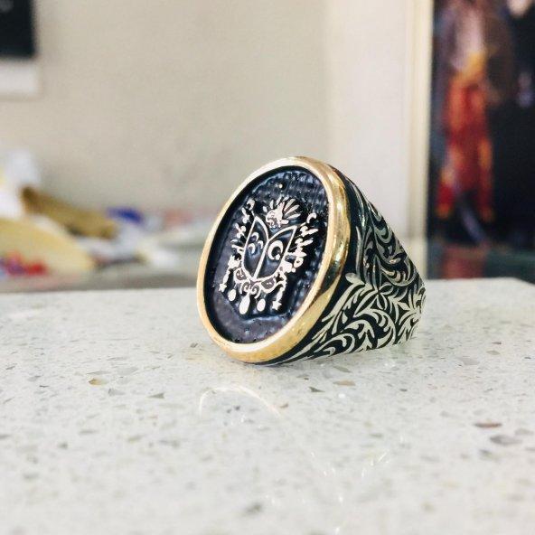 Osmanlı Mührü 925 Ayar Erkek Gümüş Yüzük