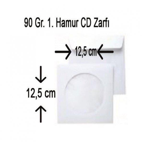 CD ZARFI 1. HAMUR 90 Gr. PENCERELİ 12.5*12.5 50Lİ