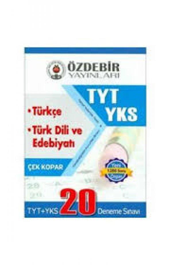 Özdebir Tyt&Ayt Türkçe-Edebiyat 20 Deneme (Yeni)