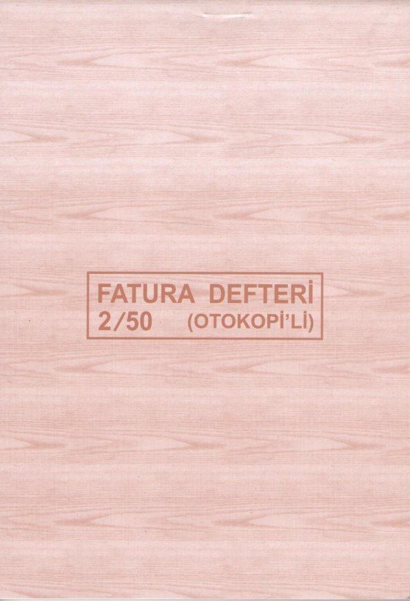 DİLMAN FATURA DEFTERİ 2/50 2 NÜSHA OTOKOPİLİ