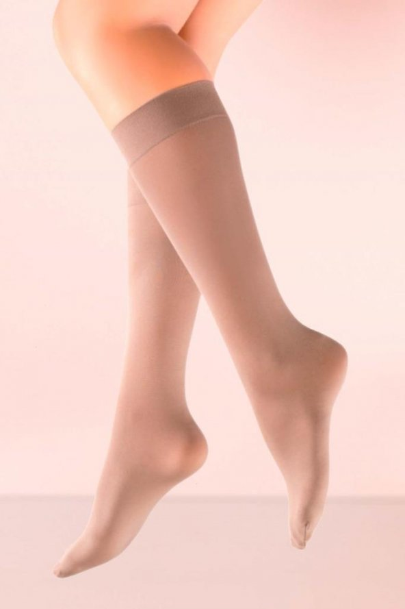 Mite Love Teni Göstermeyen Mikro 70 Dizaltı Çorap Bronz