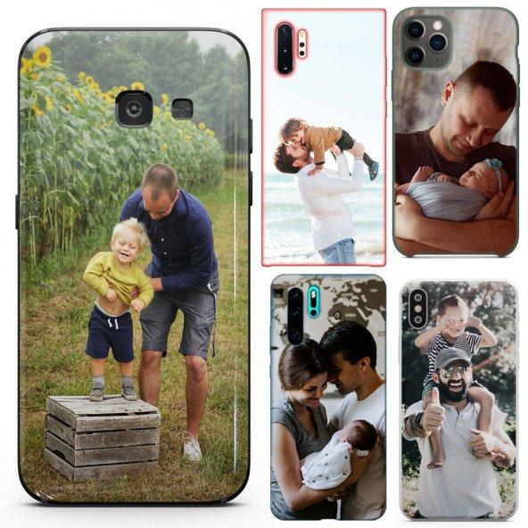 Huawei Ascend P7 Babalar Günü Hediyesi Fotoğraflı Kılıf