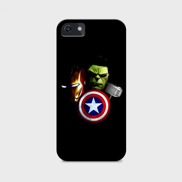 Avengers Tasarımlı Kişiselleştirilebilir Telefon Kılıfı