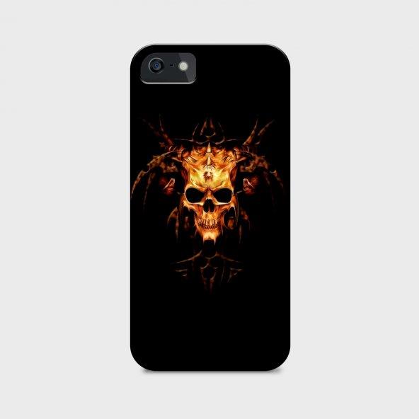 Burning Skeletion Tasarımlı Kişiselleştirilebilir Telefon Kılıfı