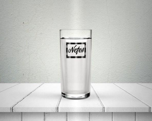 Çerçeve İçerisinde Kişiye Özel Baskılı Rakı Bardağı