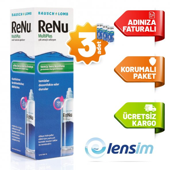 Renu Multi Plus Lens Solüsyonu 120 ml X 3 Adet SKT 10/2021