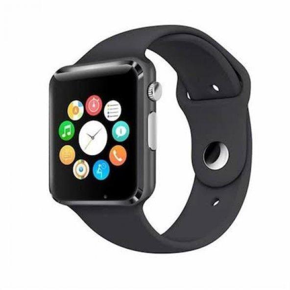 Angel Eye W8 Watch Kameralı Akıllı Saat IOS ve Android Uyumlu Siyah