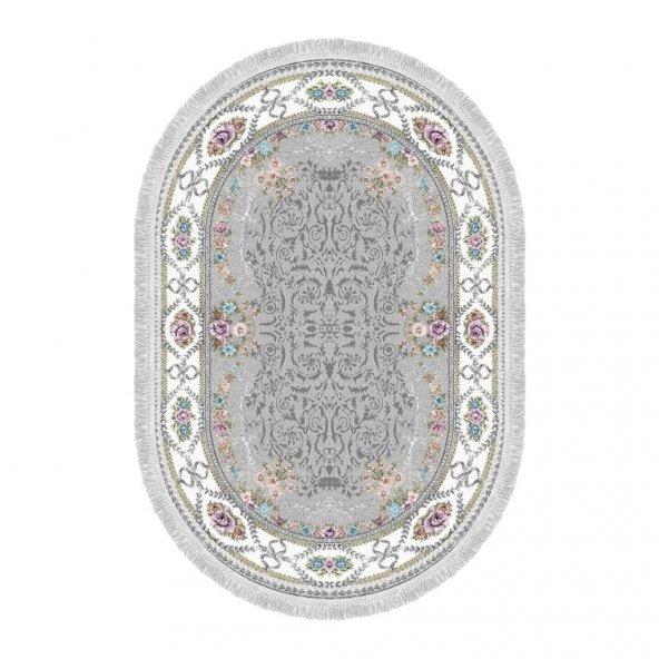 Decoling Safir 1800 Yeni Gri Dekoratif Oval Halı