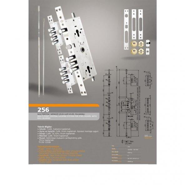 Kale Kilit 256 G Multi Sistem Çelik Kapı Kilidi