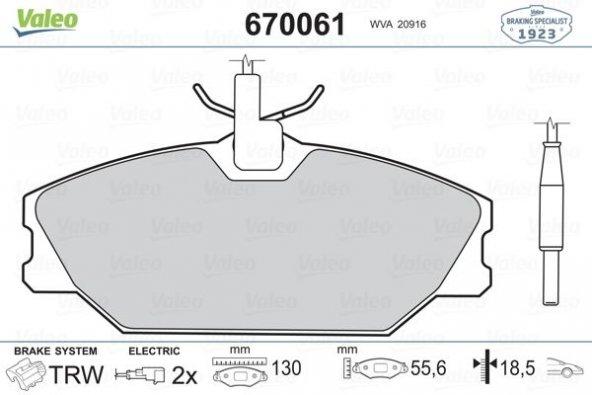 FREN BALATASI ÖN 7701202050 LAGUNA BM 91- VALEO