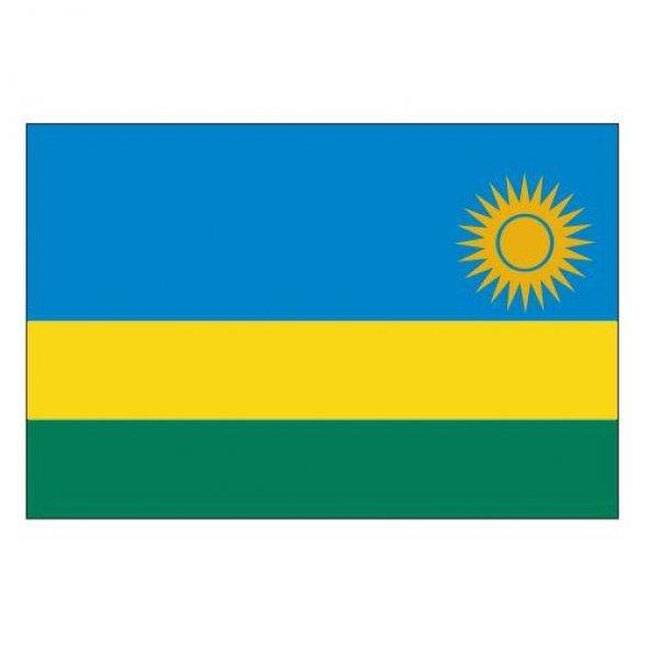 Ruanda Gönder Ülke Bayrağı 100x150