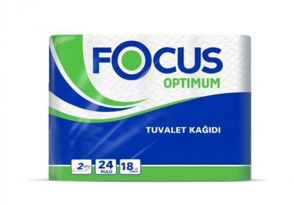 Focus Optimum Tuvalet Kağıdı 2 Katlı 24 Rulo
