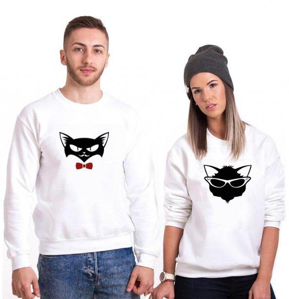 Tshirthane Cat  Sevgili Kombinleri tshirt kombini Sevgili Sweatshirt Uzunkollu