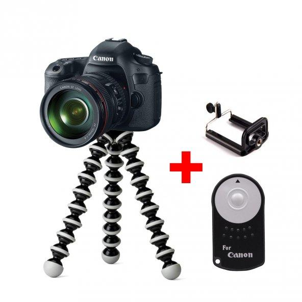 Canon 4000D için Masaüstü Tripod Seti