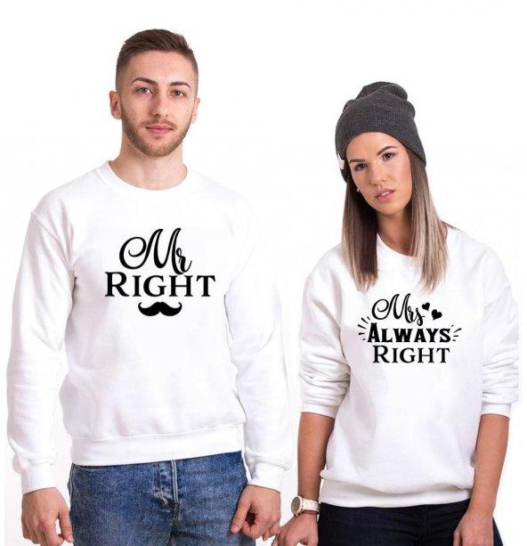 Tshirthane Mr Right Sevgili Kombinleri tshirt kombini Sevgili Sweatshirt Uzunkollu
