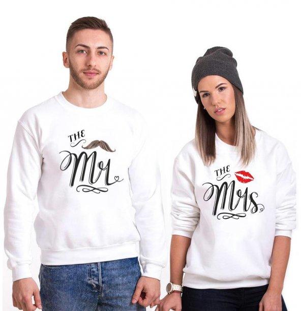 Tshirthane Mrs.Öpücük Mr. Bıyık  Sevgili Kombinleri tshirt kombini Sevgili Sweatshirt Uzunkollu