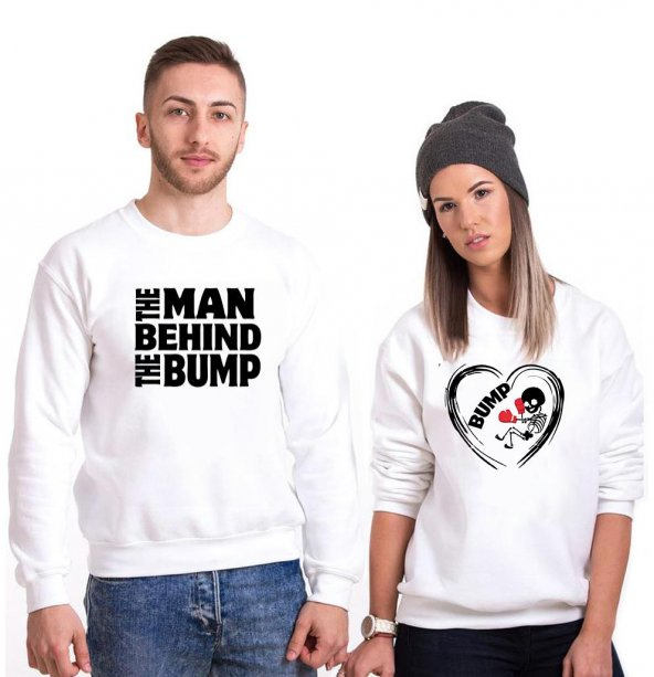 Tshirthane The Man Bump Sevgili Kombinleri tshirt kombini Sevgili Sweatshirt Uzunkollu