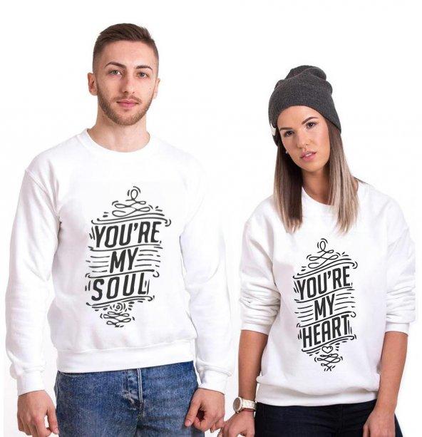Tshirthane Youre My Soul My Heart Sevgili Kombinleri tshirt kombini Sevgili Sweatshirt Uzunkollu