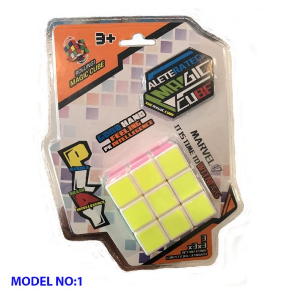 Fosforlu Siyah Zeminli Rubiks Zeka Küpü Sabır Axis Sihirli Küp