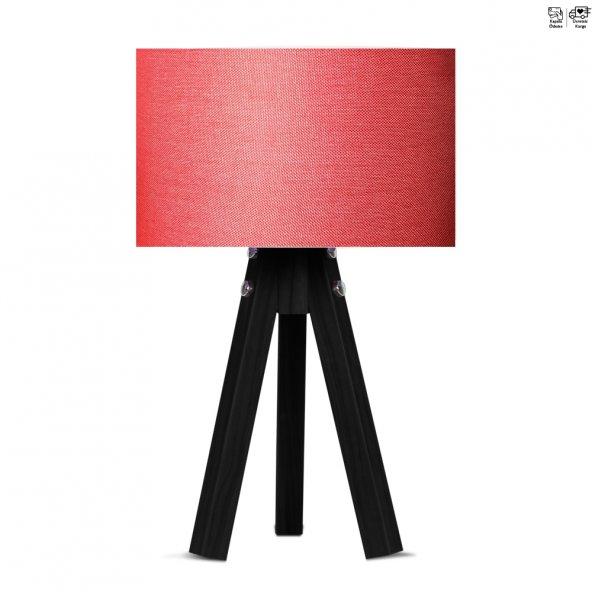 Kırmızı-Siyah Tripot Abajur