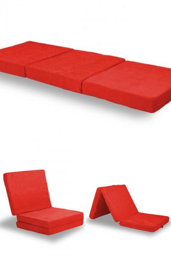 Çok Amaçlı Taşınabilir Yer Yatağı Kırmızı