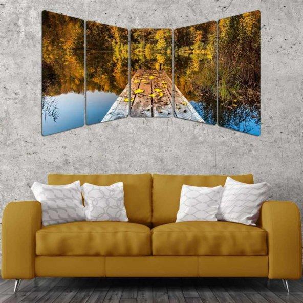 60X100 - 5 Parçalı Panoramik Mdf Tablo - P-1089