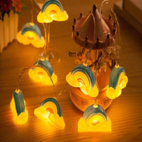 Dekoratif Gökkuşağı Şerit Led Işık Pilli İp Led