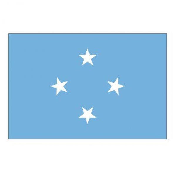 Mikronezya Gönder Ülke Bayrağı 150x225cm