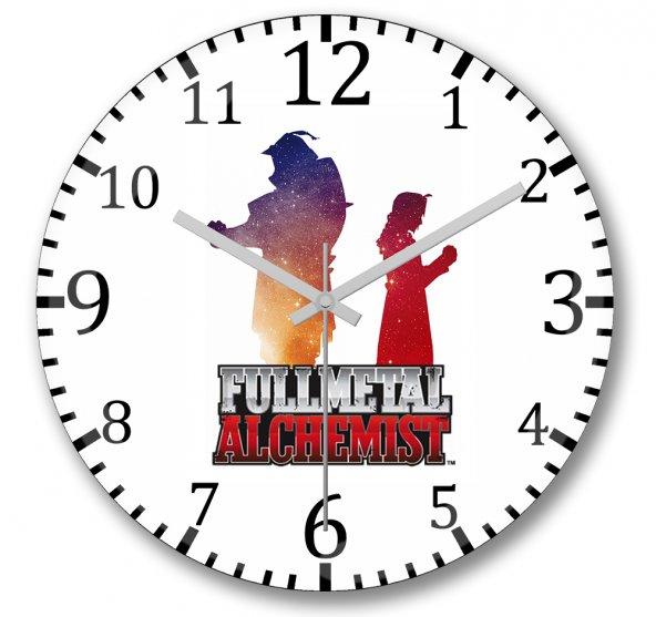 Anime Fullmetal Alchemist Duvar Saati Bombeli Gercek Cam