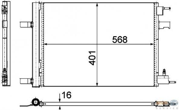 KLIMA RADYATORU (KONDANSATOR) ASTRA J -CRUZE 09-(WAXELL)