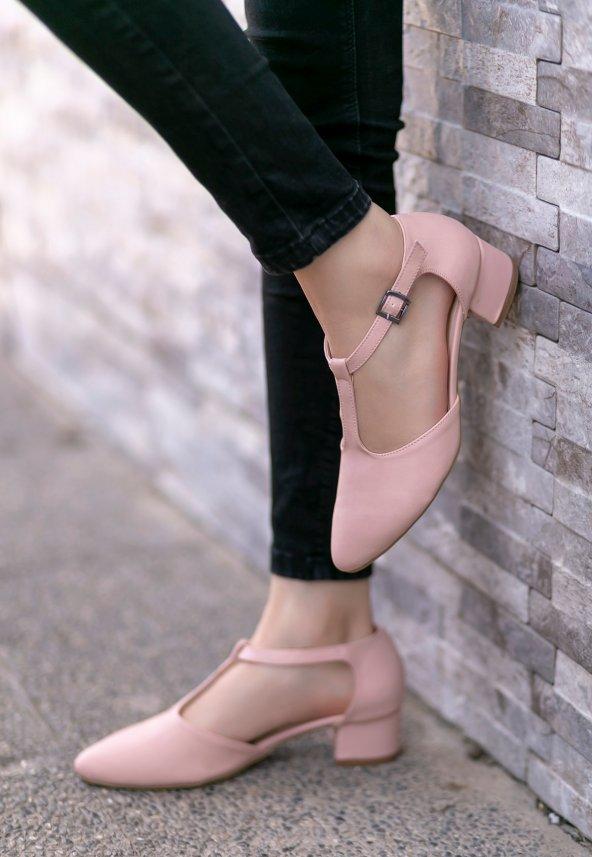 Sveva Pudra Cilt Topuklu Ayakkabı