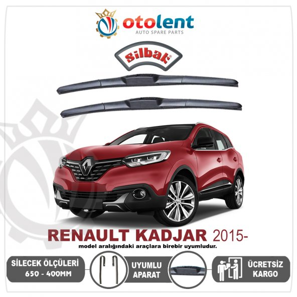 Renault Kadjar 15- Silecek Takımı 650-400MM(SILBAK)