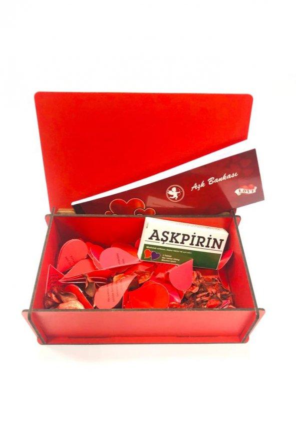Sevgiliye Hediye Aşk Bankası Ahşap Sandık Seni Seviyorum AYD00023