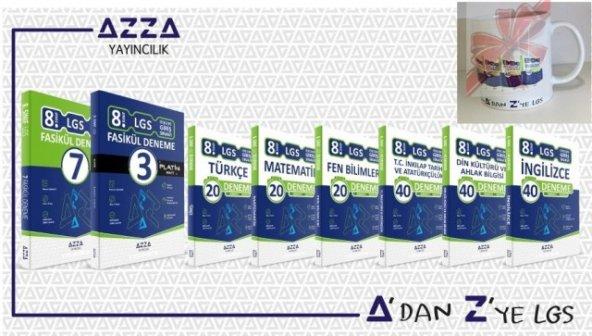 AZZA 8.SINIF LGS DENEME SETİ BARDAK HEDİYELİ -2020