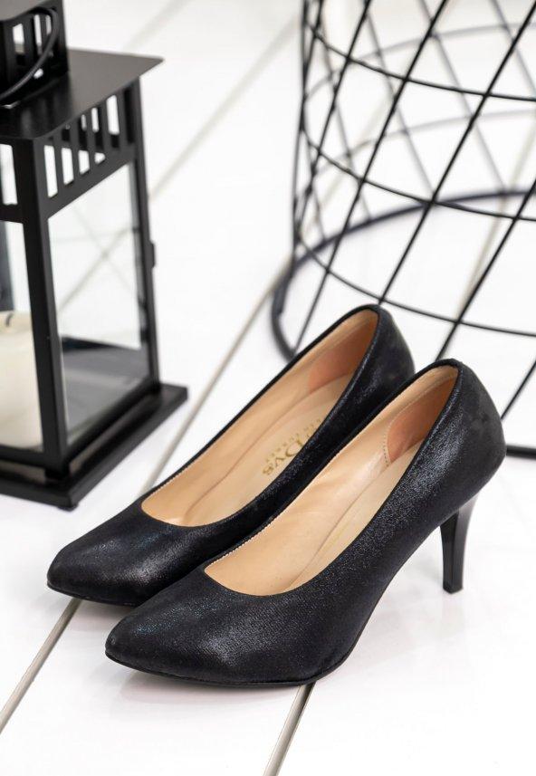 Edna48 Siyah Topuklu Ayakkabı