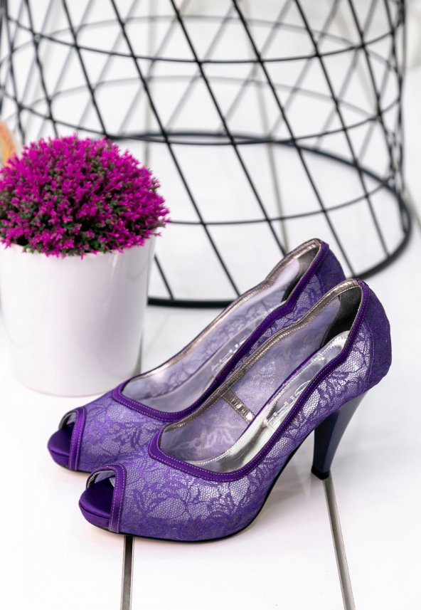 Edna39 Mor Topuklu Ayakkabı