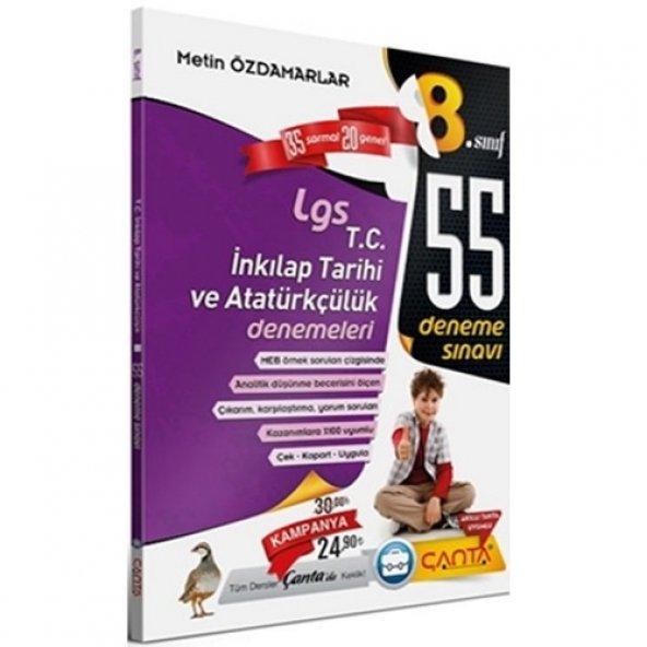 8.sınıf Tc.inkılap Tarihi  Lgs 55 Deneme - Çanta Yayınları